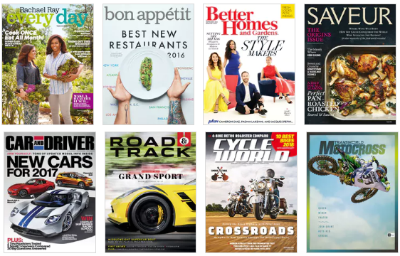 magazines on sale