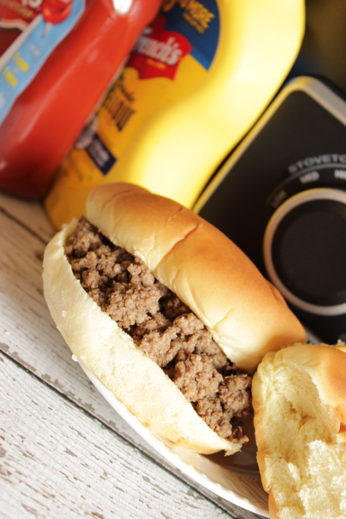 These crockpot maid rites are SO awesome! I make them for parties all the time. This is also the ULTIMATE tailgate food! Maid Rite recipe - Crockpot Loose Meat Sandwiches, perfectly seasoned and served on warm hamburger buns.