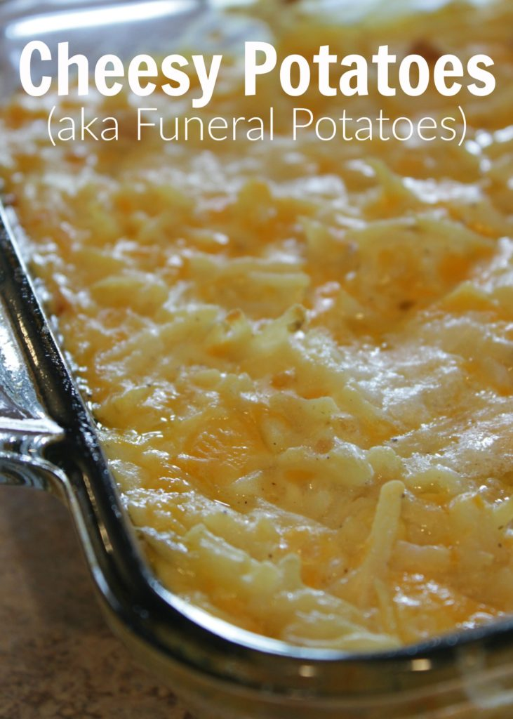 On the hunt for side dish recipes? Easy - potatoes and cheesy goodness is what you'll have here! These go great with grilled meat, barbecue or as an Easter dinner side dish! These are also called funeral potatoes.
