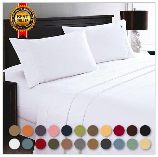 Hotel Quality 1800 Ct Deep Pocket 6 Pc Bed Sheets 19 99 Shipped
