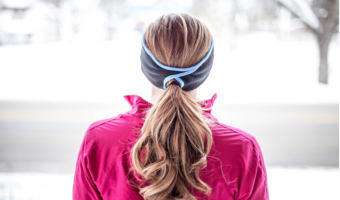 Outdoor Fleece Headbands with a Ponytail Hole, on Sale!