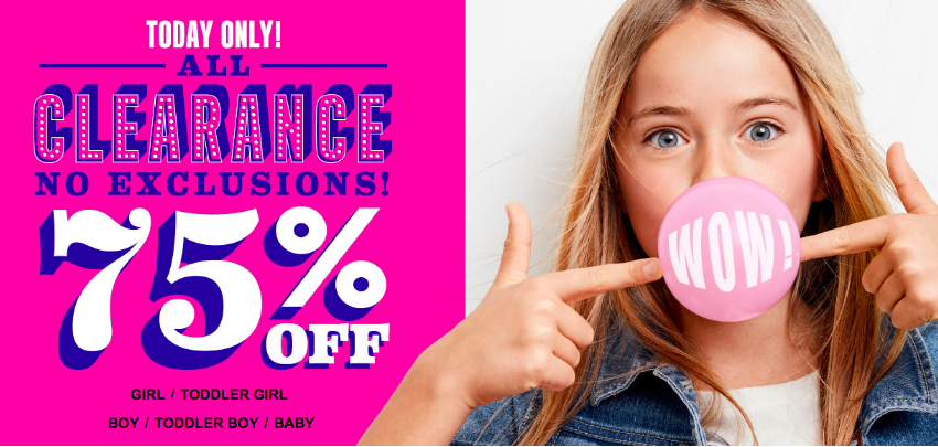 The Children's Place: 75% Off Clearance = Shirts $3.23 Shipped & More!