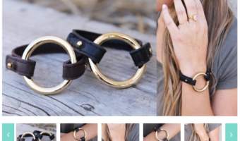 Circle Leather Band Bracelets, Only $5.99