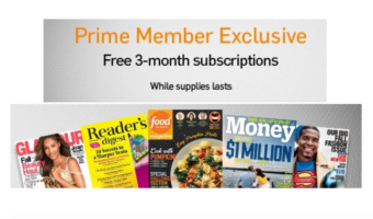 Amazon Prime Members = FREE Magazine Subscription!