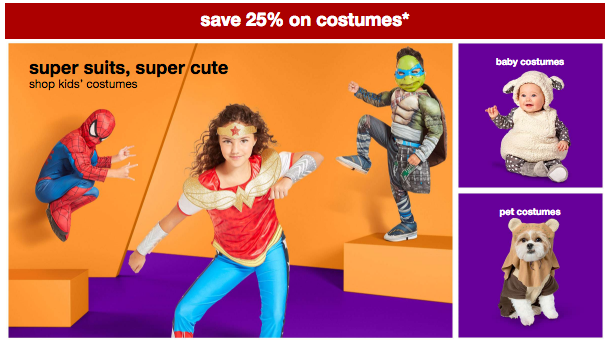 Target Halloween Costumes, an Additional 25% Off Today Only!