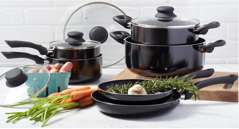 Amazon Basics Cookware Set on Sale   Works Out to ONLY $3.50 Per Pan! - Deals & Coupons