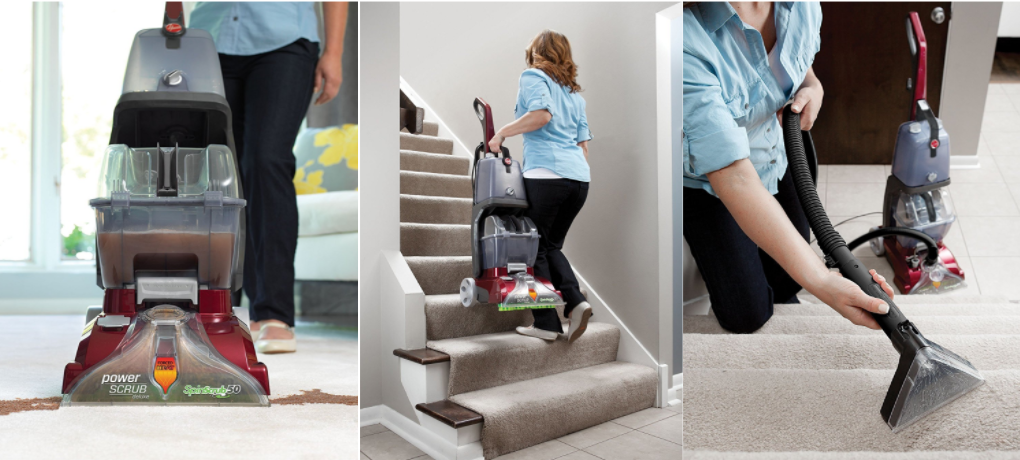 hoover power scrub deluxe carpet cleaner with tools