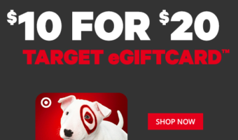 $20 Target Gift Card on Sale ONLY $10!?
