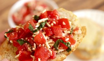 easy bruschetta recipe appetizer