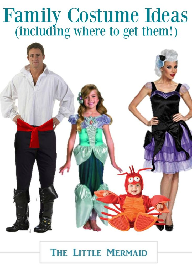 Looking for family costume ideas for 4? Halloween can be SO much fun when you  sc 1 st  Coupon Cravings & Little Mermaid Costume Set for a Family -
