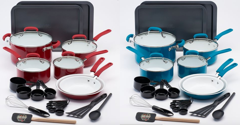 Kohl S Com Guy Fieri 25 Pc Ceramic Cookware Set Only