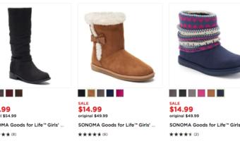Kohl's: Girl's Boots ONLY $11.99 (Reg. $54.99)