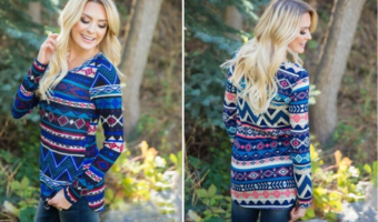 Groopdealz: Tribal Knit Tops Ship for Only $12.99