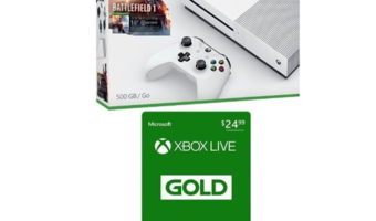 Xbox One S 500GB Battlefield Bundle + 3-month Xbox Live Card at BEST Price