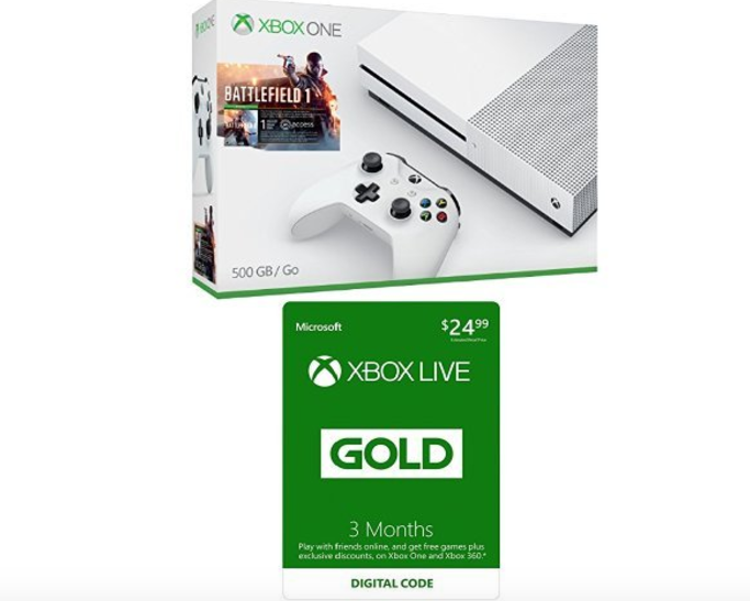 Xbox One S 500GB Battlefield Bundle + 3-month Xbox Live Card at BEST Price - Deals & Coupons