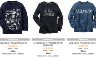 Carter's $5 Doorbusters + Free Shipping!
