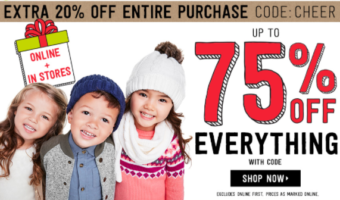 Crazy8.com: 75% Off + Additional 20% Off + FREE Shipping!
