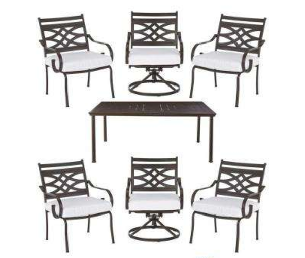 Hampton Bay 7 Piece Patio Furniture Set For Only 242 Reg 484