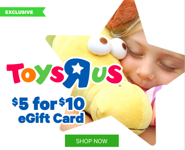 Toys R Us Gift Card : Select groupon users toys r us gift card only
