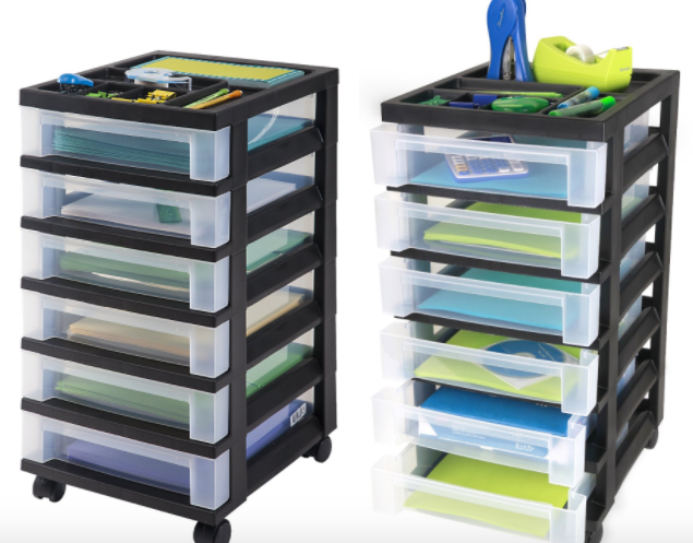 6-Drawer Storage Cart With Organizer Top Only $23.60