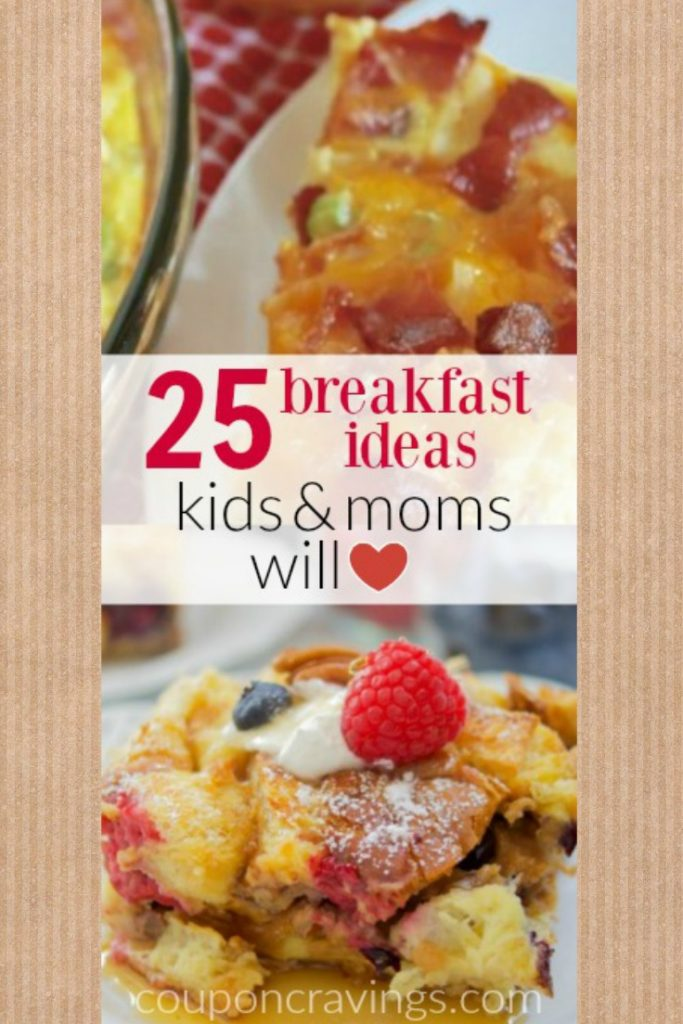 I am loving atleast six of these easy breakfast ideas - kids, simple, easy are several ways to describe them and my favorite kind of meals to make!