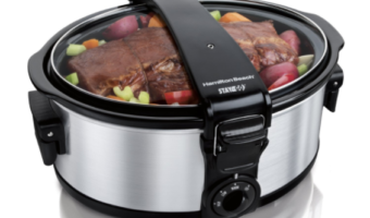 Amazon.com: Hamilton Beach 6-Quart Slow Cooker with Lid Holder Only $22.09