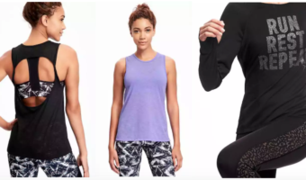 Old Navy Activewear Starting at $3.73 + Free Shipping on Select Orders