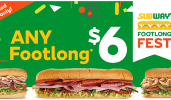 Subway Footlong Fest – Footlong Sandwiches Only $6 Each