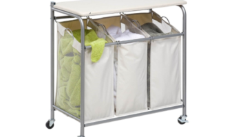 Honey-Can-DoRolling Ironing and Sorter Laundry Center at Lowest Price