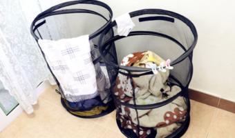 2-ct Ohuhu Pop-Up Mesh Black Laundry Hampers Less Than $7 Each!