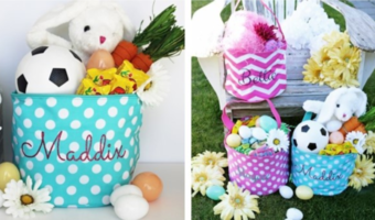 Personalized Easter Totes Ship for $17.98