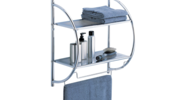 Organize It All 2-Tier Shelf with Towel Bars at Great Price!