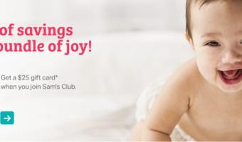 FREE $25 Sam's Club Gift Card (+ Join the Mom's Corner!)