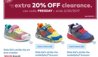 Stride-Rite Kids Shoes, Additional 20% Off = Great Prices!