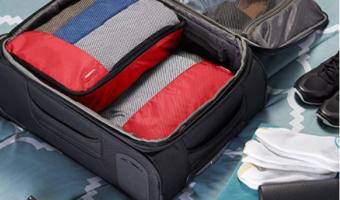 AmazonBasics 4-Piece Packing Cube Set Less than $10