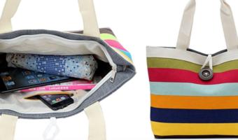 Women's Canvas Shoulder Bag Only $2.99