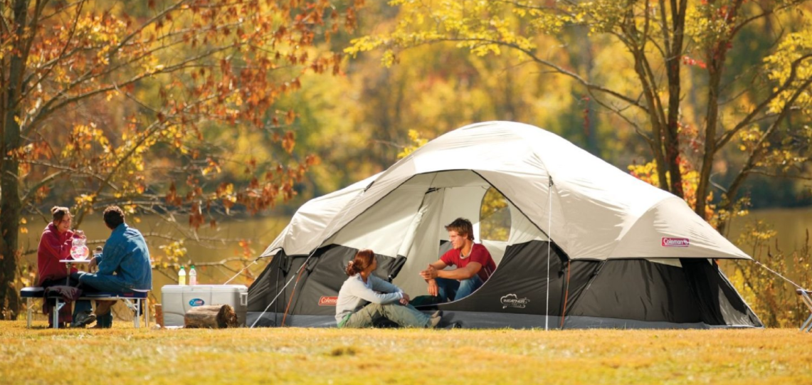 Amazon Com Coleman 8 Person Red Canyon Tent At A Super