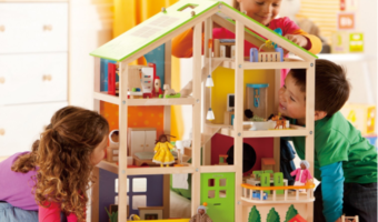 Hape Kid's Wooden Doll House with Accessories, at Best Price!