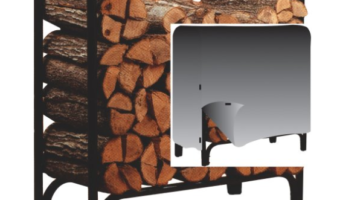 Panacea 4-Foot Deluxe Log Rack with Cover Only $57.99
