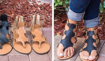 Stretch Gladiator Sandals Ship for $22.98