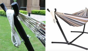 Double Freestanding Hammock with Steel Stand, at Best Price!