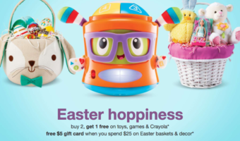 Target.com: Free $5 Gift Card with Toys Purchase & More!