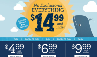 Gymboree: HUGE Sale, Items Starting at $4.99 + FREE Shipping
