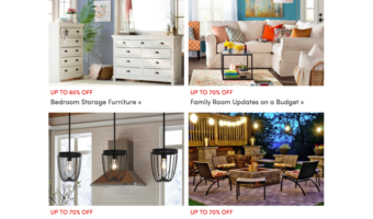 Up to 75% Off Lighting Pieces for the Home (Pendants, Lamps and More!)