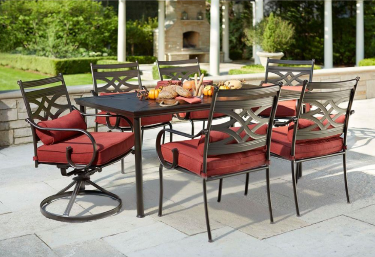 Hampton Bay Middletown 7-Piece Patio Dining Set ONLY $299