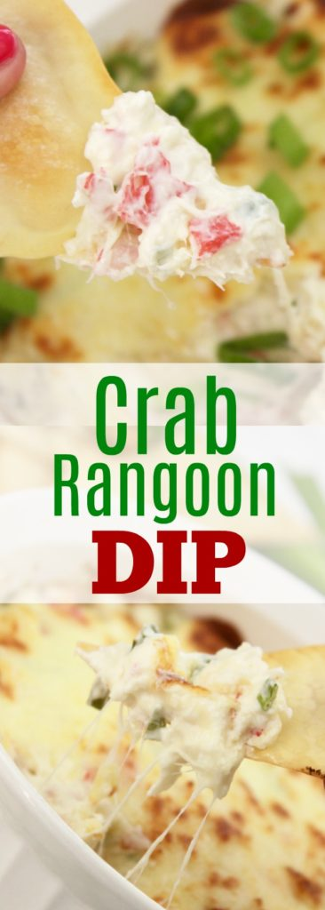 On the hunt for hot appetizers for party time?? Look no further, this is the BEST crab rangoon dip with a secret ingredient, too!