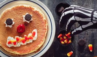 Free Scary Face Pancake for Kids!