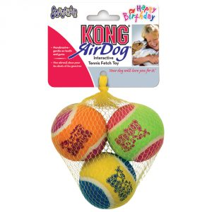 KONG Happy Birthday AirDog Squeaker Balls
