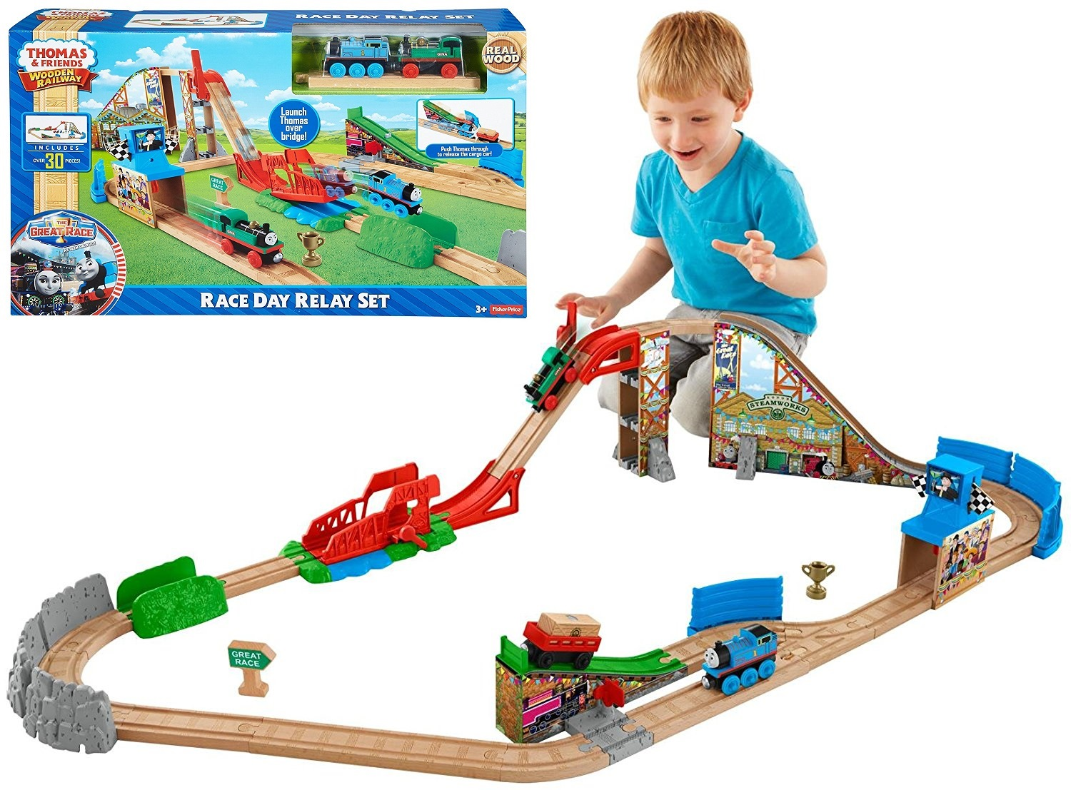 Fisher Price Thomas The Train Wooden Railway Set At 57 Off