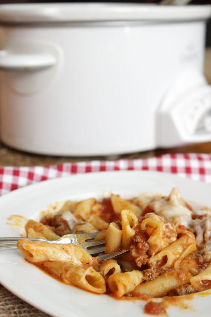 crockpot baked spaghetti
